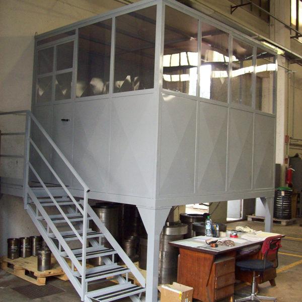 cabina box con scala