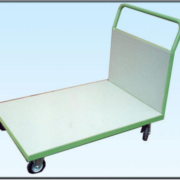 carrello con pianale e sponda-rivestito in gomma