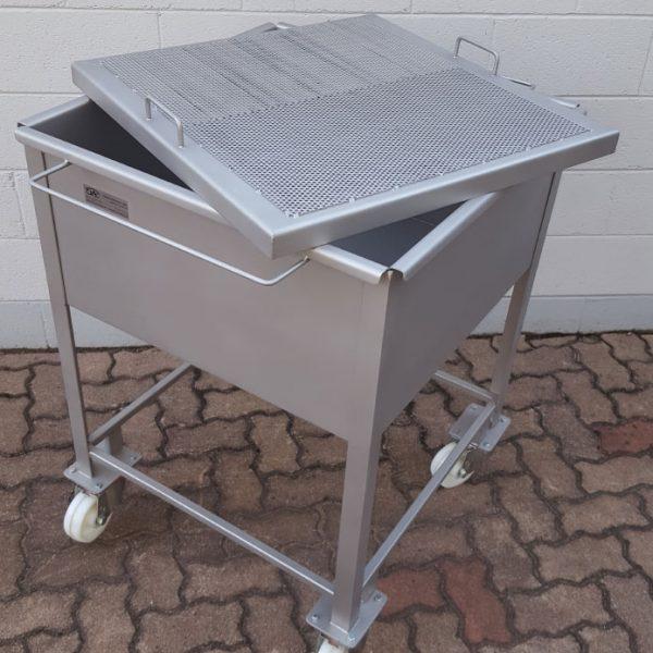 carrello con vasca e filtro