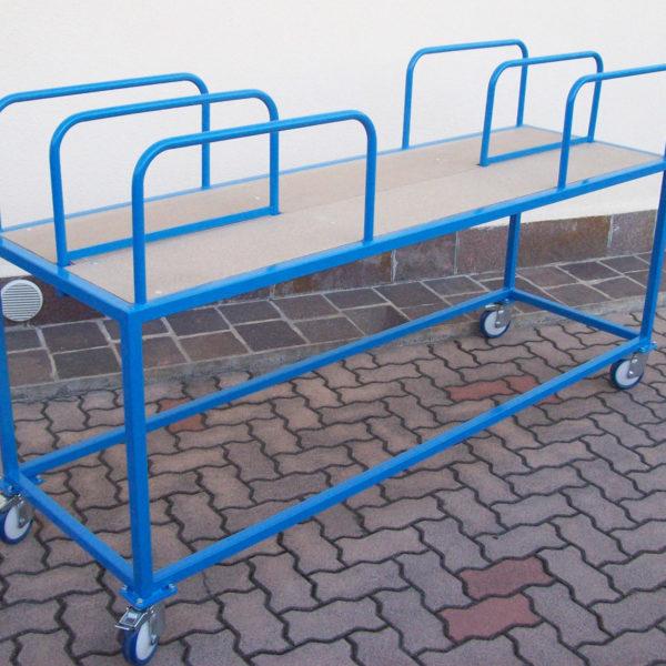 carrello porta rotoli con sponde