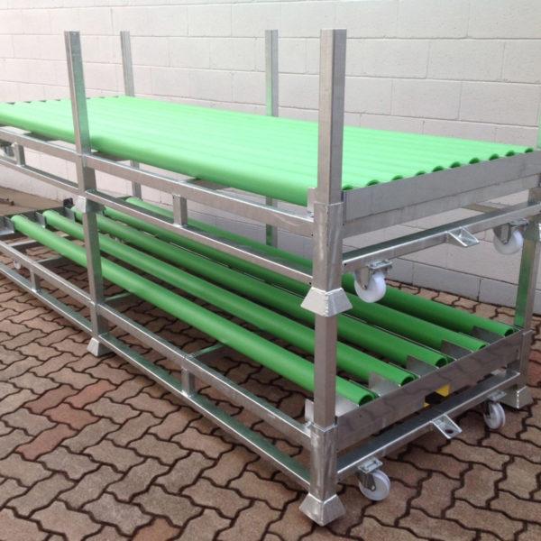 carrello sovrapponibile zincato porta tubi