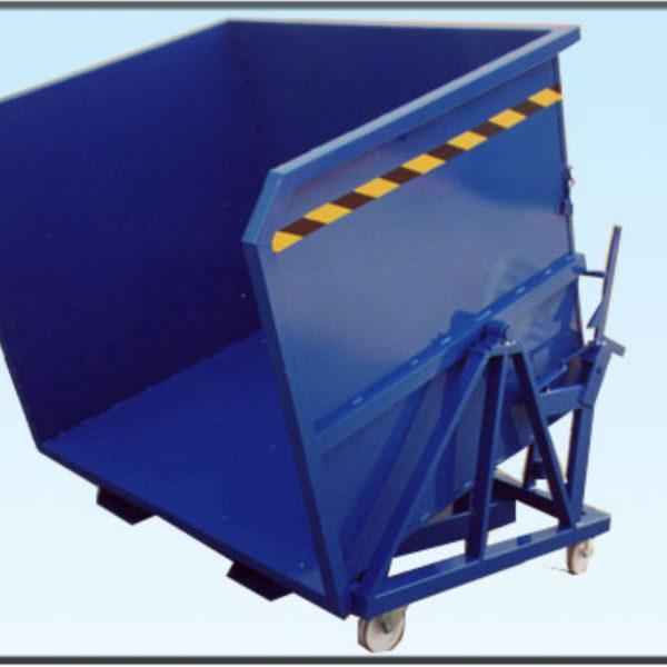 contenitore ribaltabile a tre sponde con ruote