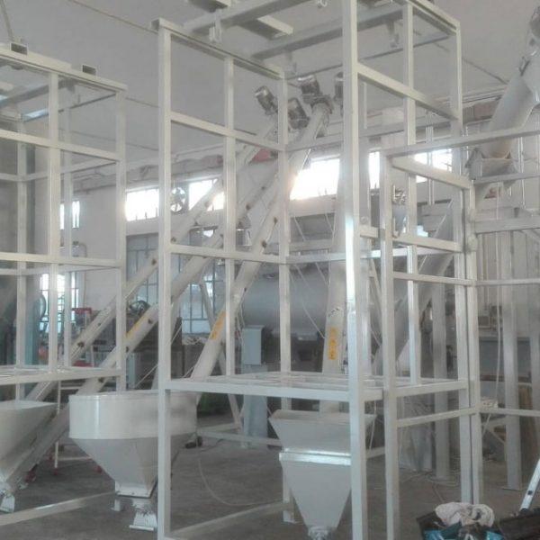 strutture porta sacconi big bag per impianto silos
